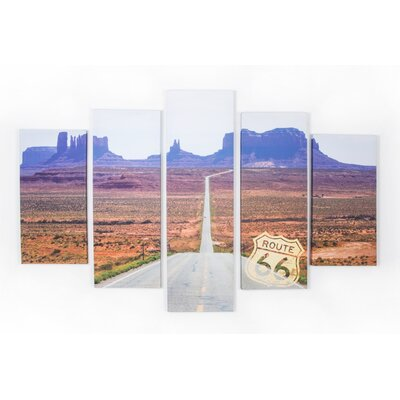 Spring 2015 Route 66 5 Piece Photographic Print on Wrapped Canvas Set 41-842
