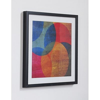 Neon Circle Framed Graphic Art 41-322