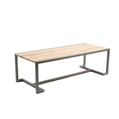 Union Coffee Table Base Finish: Flat Iron, Top Finish: Hickory