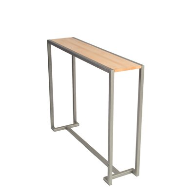 Union Console Table Base Finish: Flat Nickel, Top Finish: Maple