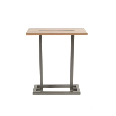 Union End Table Base Finish: Flat Nickel, Top Finish: Maple