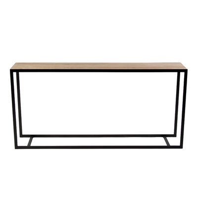Ansted Console Table Base Finish: Polished, Top Finish: Cherry