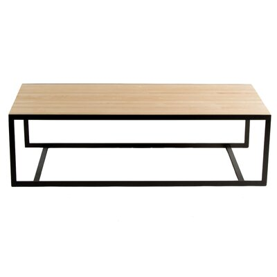 Ansted Coffee Table Top Finish: Maple, Base Finish: Flat Iron