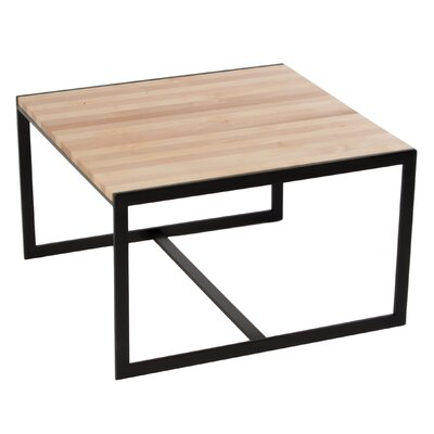 Ansted Coffee Table Base Color: Oil Rubbed Bronze, Top Color: Maple