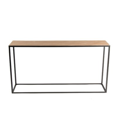 Cardway Console Table Base Finish: Oil Rubbed Bronze, Top Finish: Cherry