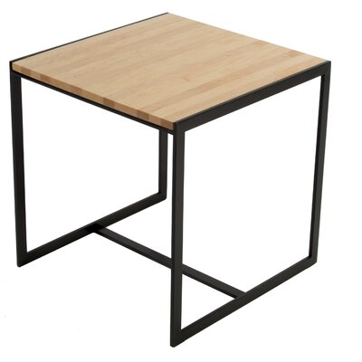 Ansted End Table Base Color: Oil Rubbed Bronze, Top Color: Maple