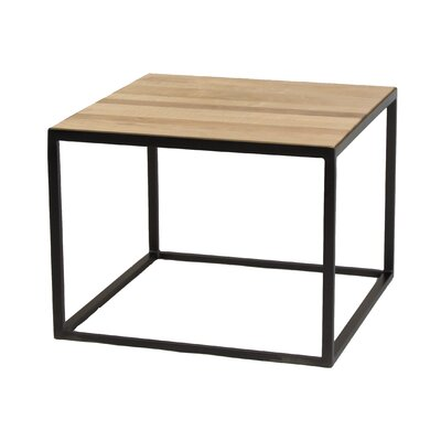 Cardway Coffee Table Base Color: Flat Iron, Top Color: Cherry