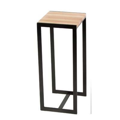 Ansted End Table Base Finish: Oil Rubbed Bronze, Top Finish: Cherry