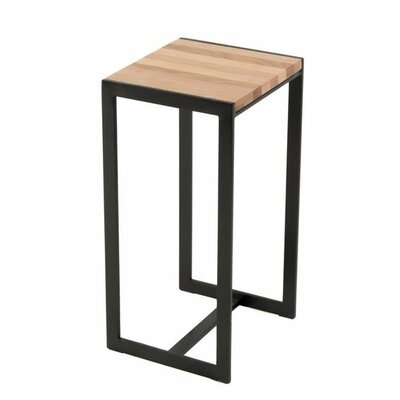 Ansted End Table Base Finish: Oil Rubbed Bronze, Top Finish: Maple