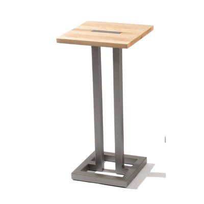 Union End Table Base Color: Flat Iron, Top Color: Maple