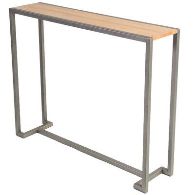 Union Console Table Base Finish: Flat Iron, Top Finish: Hickory