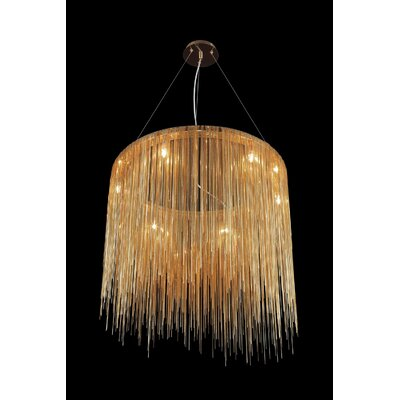 Fountain Avenue 8-Light Waterfall Chandelier Finish: Gold