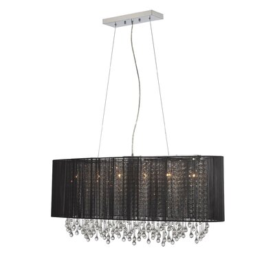 Beverly Drive 6-Light Kitchen Island Pendant Finish: Black