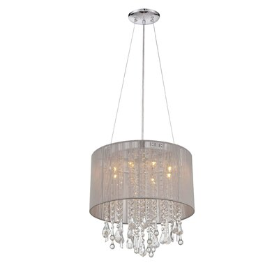 Chamberlin 8-Light Drum Chandelier Finish: Taupe