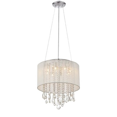 Chamberlin 8-Light Drum Chandelier Finish: White