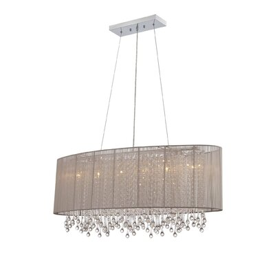Beverly Drive 6-Light Kitchen Island Pendant Finish: Taupe
