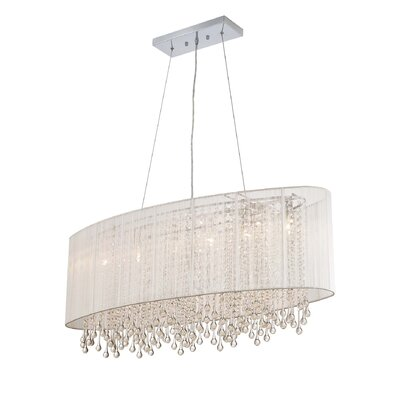 Beverly Drive 6-Light Kitchen Island Pendant Finish: White