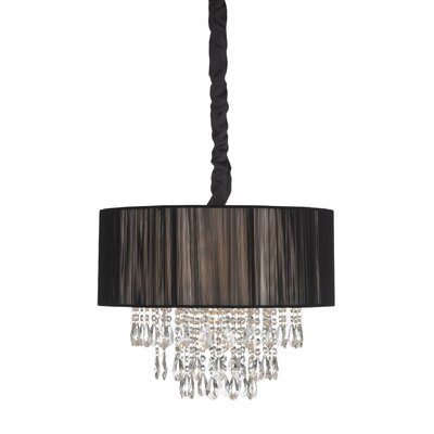 6-Light Semi Flush Mount Color: Black