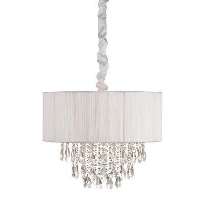 6-Light Semi Flush Mount Finish: White