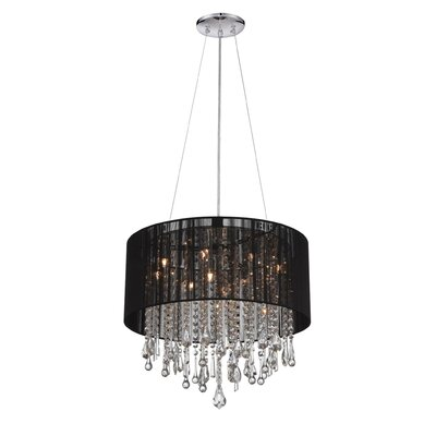 Beverly Drive 12-Light Drum Chandelier Finish: Black, Size: 18.5 H x 20 W