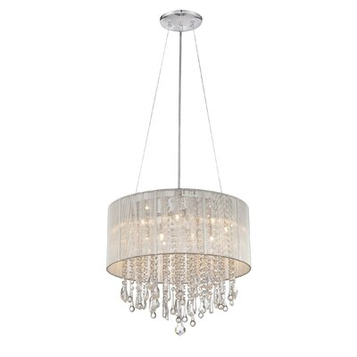 Beverly Drive 12-Light Drum Chandelier Size: 20 H x 32 W, Finish: Silver