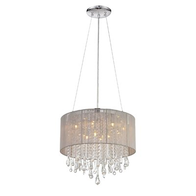 Beverly Drive 12-Light Drum Chandelier Finish: Taupe, Size: 18.5 H x 20 W