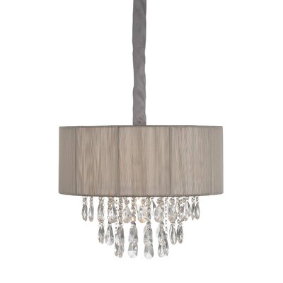 6-Light Semi Flush Mount Color: Taupe