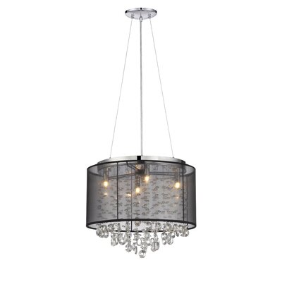 Riverside Drive 4-Light Drum Chandelier Finish: Black