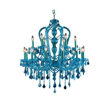 18-Light Semi Flush Mount Color: Blue