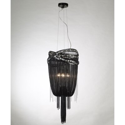 Wilshire Drive 4-Light Mini Chandelier Color: Black