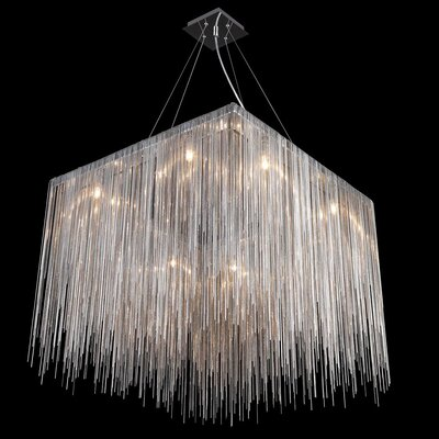 Ahart 8-Light Waterfall Chandelier Finish: Chrome