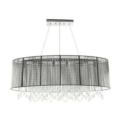 Beverly Drive 6-Light Kitchen Island Pendant Finish: Silver