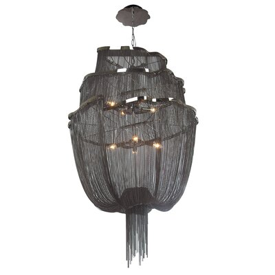 Mulholland Drive 6-Light Waterfall Chandelier Color: Black
