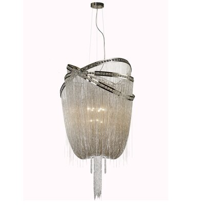 Wilshire Drive 9-Light Waterfall Chandelier Finish: Nickel