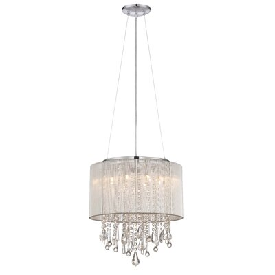 Chamberlin 8-Light Drum Chandelier Finish: Silver