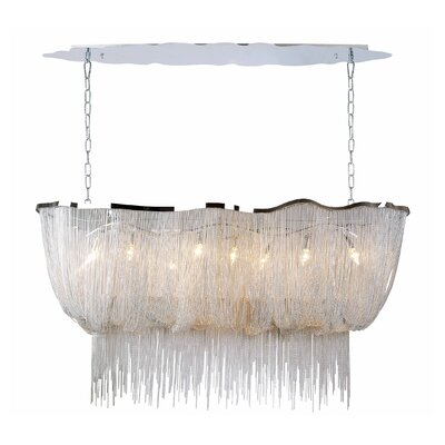 Mulholland Drive 8-Light Kitchen Island Pendant Color: Chrome