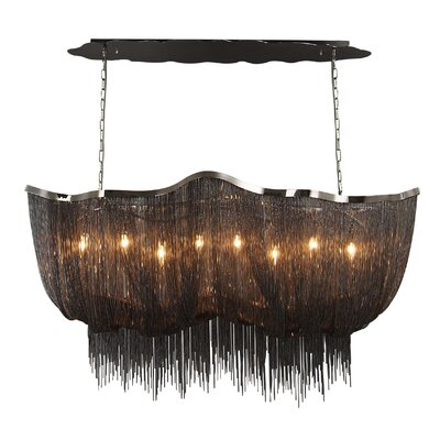 Mulholland Drive 8-Light Kitchen Island Pendant Finish: Black