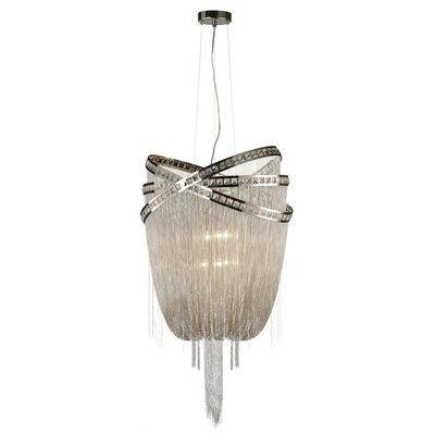 Wilshire Drive 6-Light Waterfall Chandelier Finish: Nickel