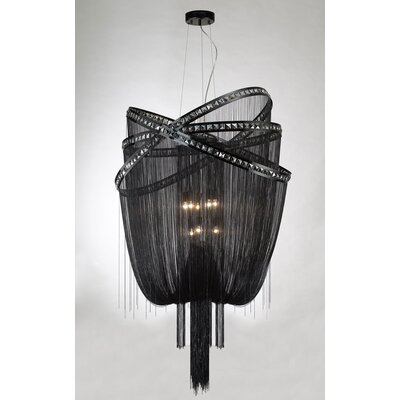 Wilshire Drive 9-Light Waterfall Chandelier Finish: Black