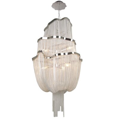 Mulholland Drive 6-Light Waterfall Chandelier Finish: Chrome