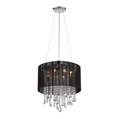 Chamberlin 8-Light Drum Chandelier Finish: Black