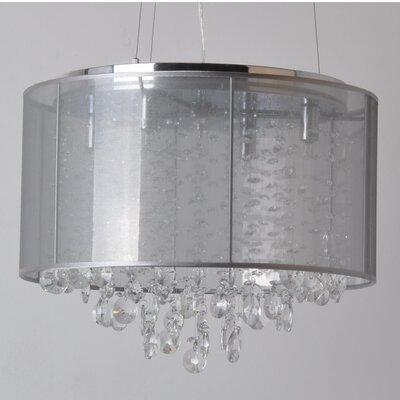 Riverside Drive 4-Light Drum Chandelier Finish: Silver