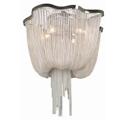 Mulholland Drive 4-Light Waterfall Chandelier Color: Chrome