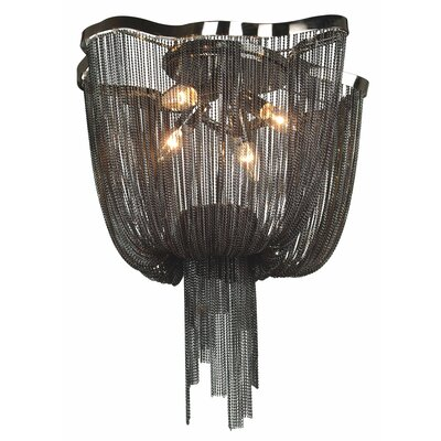 Mulholland Drive 4-Light Waterfall Chandelier Finish: Black