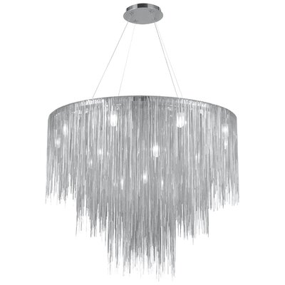 Fountain Avenue 18-Light Waterfall Chandelier Finish: Chrome