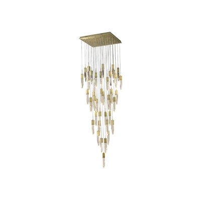 Kohlmeier 41 Light LED Cascade Pendant Finish: Brushed Brass