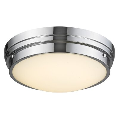 Cermack St. LED Flush Mount Color: Polished Nickel
