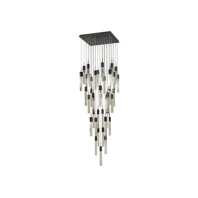 Glacier Avenue 41 Light LED Cascade Pendant Finish: Dark Bronze
