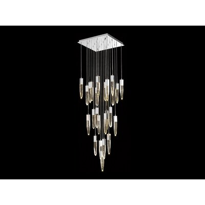 Kohlmeier 25-Light Cascade Pendant Finish: Chrome