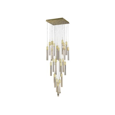 Glacier Avenue 41 Light LED Cascade Pendant Finish: Brushed Brass